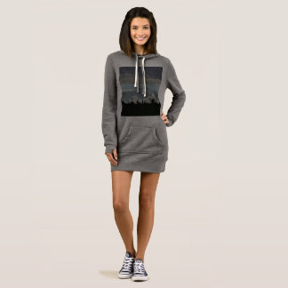 Women's Hoodie Dress Desert Photo Art