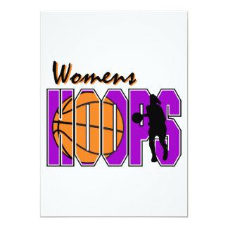 womens hoops purple basketball design 13 cm x 18 cm invitation card