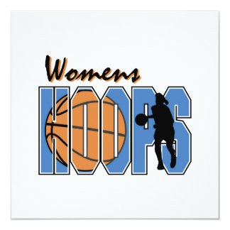 Women's Hoops T-shirts and Gifts 13 Cm X 13 Cm Square Invitation Card