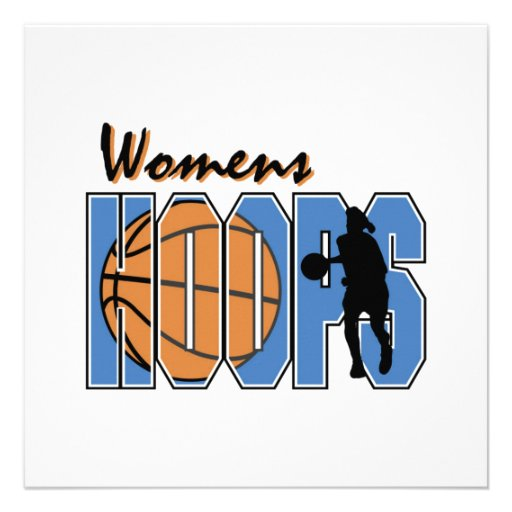 Women's Hoops T-shirts and Gifts Invites