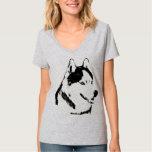 Women's Husky Shirt Husky Malamute Sled Dog Shirts