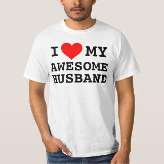 Women's I love my awesome Husband T-Shirt