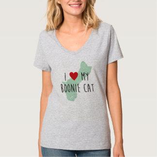 Women's I Love My Boonie Cat Shirt (Green)