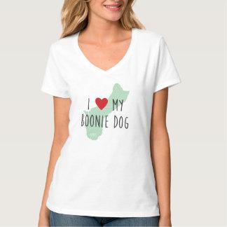 Women's I Love My Boonie Dog Shirt (Green)