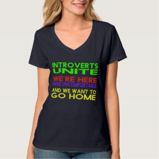 "Womens ""Introverts Unite"" T-Shirt 3"