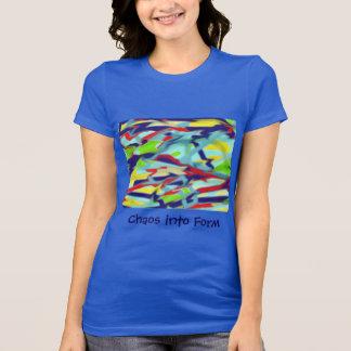 Women's Jersey T-shirt Chaos into Form Blue