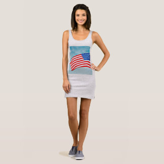 Women's Jersey Tank Dress - American Flag