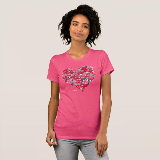 Womens - Joanne Short Hibiscus Heart Design Pink