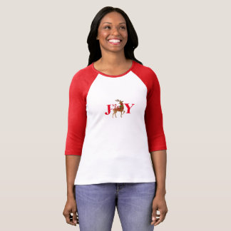 Women's Joy Holiday Christmas Reindeer Top