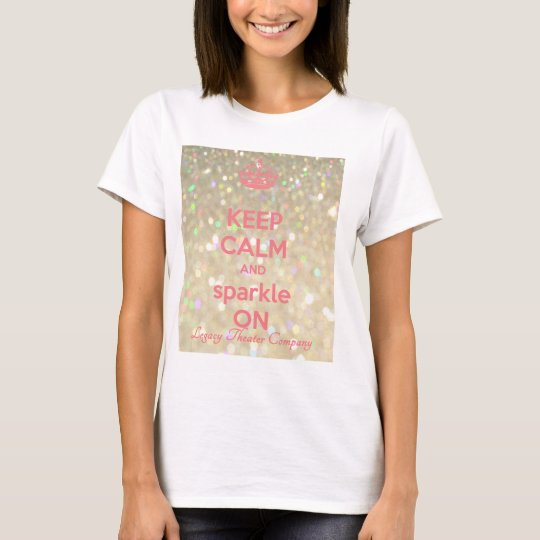 Women's KEEP CALM & SPARKLE t-shirt