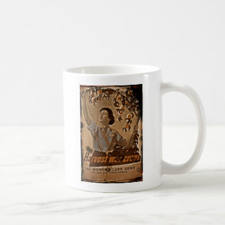 Women's Land Army Harvesting Basic White Mug