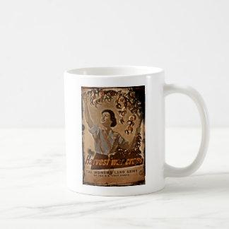 Women's Land Army Harvesting Basic White Mug
