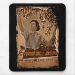 Women's Land Army Harvesting Mousemats
