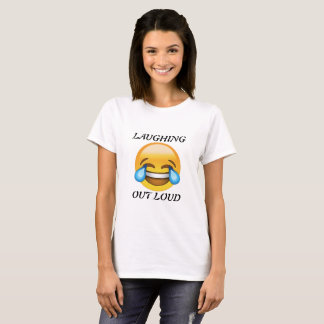 Women's Laughing Out Loud Emoji T-shirt