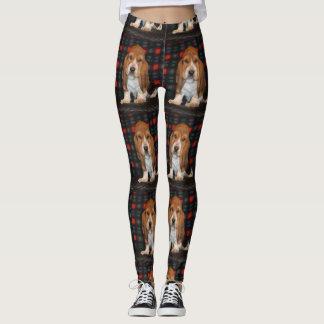 womens leggings Basset hound