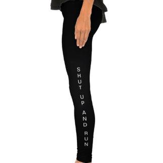 Women's Leggings Black - Shut up and Run