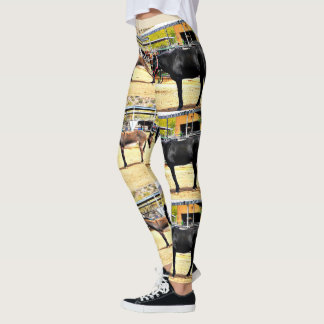 "Women's Leggings ""Four Horses and A Donkey"""