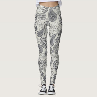 Women's leggings in paisley pattern