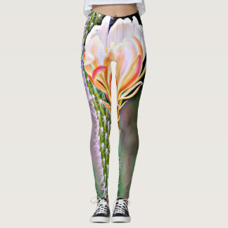 "Women's Leggings ""Pink Cactus Flower"""
