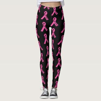Women's Leggings-Pink Ribbon Wear Pink Leggings