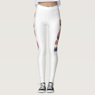 Women's Leggings USA Art Fashion Clothing