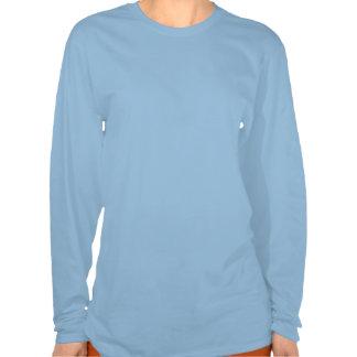 Women's Light Blue Happy Hot Chocolate Shirt