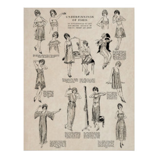 WOMENS LINGERIE 1917 POSTERS