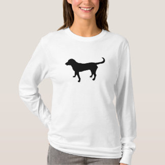 Women's long sleeve shirt black lab silhouette
