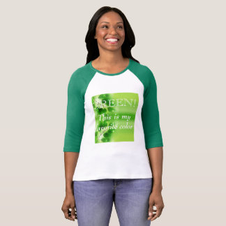 Women's Long Sleeved Favorite Green T-shirt