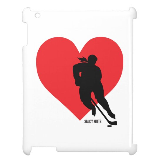 Women's Love Heart Hockey Girls Hockey iPad Cases