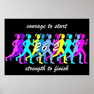 womens marathon poster