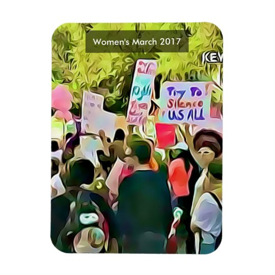 Women's March 2017 Anti Trump Agenda Protest Rectangular Photo Magnet