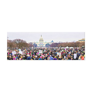 Women's March in Washington DC Anti Trump Canvas