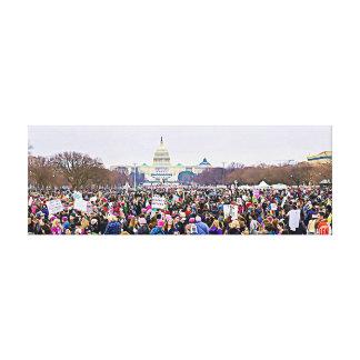Women's March in Washington DC Anti Trump Canvas Canvas Print