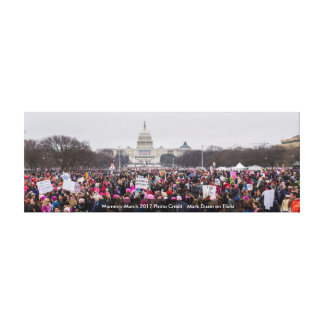 Women's March in Washington DC Anti Trump Protest Canvas Print