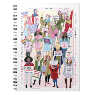 Women's March notebook