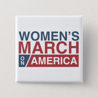 Women's March On America 15 Cm Square Badge