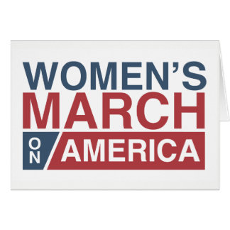 Women's March On America Card