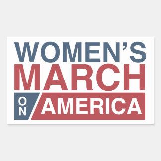 Women's March On America Rectangular Sticker