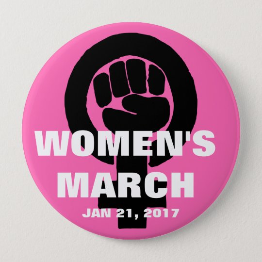 WOMEN'S MARCH ON WASHINGTON, JAN 21, 2017 10 CM ROUND BADGE