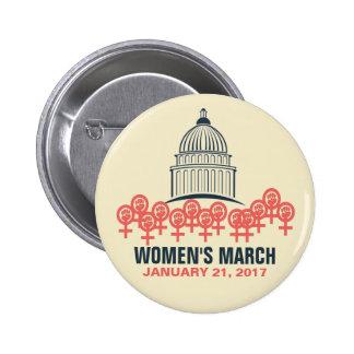 Women's March On Washington Solidarity 6 Cm Round Badge