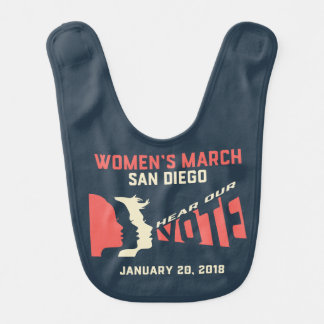 Women's March San Diego Official March Baby Bib