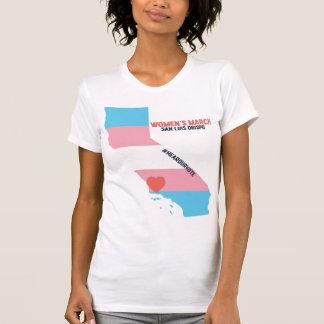 Women's March SLO - Transgender Pride Flag T-Shirt