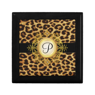 Womens Monogram Leopard Jewelry Gift Box