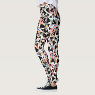 Women's Multi Colored Triangle Leggings