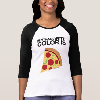 Womens My Favorite Color Is Pizza Emoji Shirt