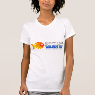 Women's Neck T-Shirt, White - mydive T-Shirt