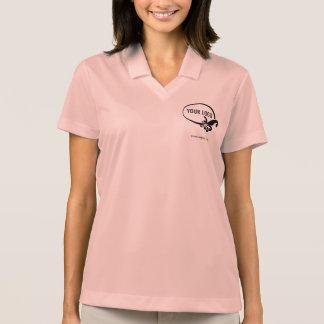Women's Nike Dri-FIT Custom Logo Pink Polo Shirt