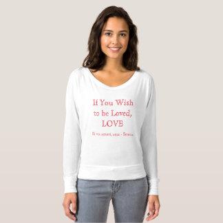 Women's off shoulder shirt - Love