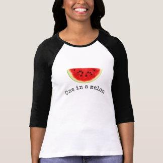 """Women's """"one in a melon"""" summer watermelon shirt"""